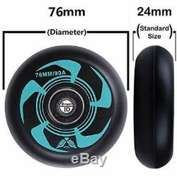 2-Pack Inline Roller Skate Wheels 90A (Available 76mm 80mm Sizes), Replacement