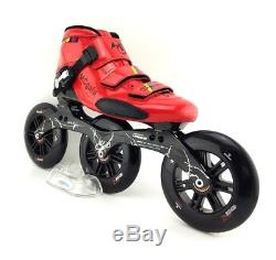 3 wheels 125 mm Fiber Glass Boots Professional Speed Inline Roller Skate Shoes