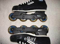 Bauer Impact 30 Hockey Roller Blades Inline Skates Men Sz 9 Ee Used Once Perfect