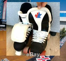 Bauer Skates, Vintage 90's Pro Team with Street Hub Wheels, Rare, Roller, 6,7,8,9