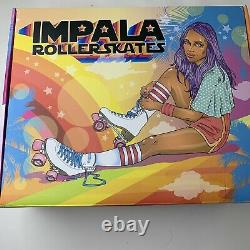 Brand New Impala Quad Roller Skates- Holographic Women's Size 6 IN HAND