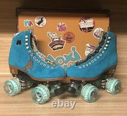 Brand New Moxi Lolly Roller Skates Pool Blue Size 6! (fits womens 7 & 7.5)