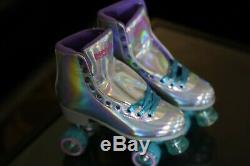 Impala Holographic Quad Roller Skates Womens Size 10 Brand New Vegan In HAND