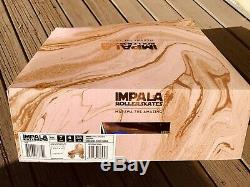 Impala Quad Roller Skates Marawa Rose Gold Holographic Size 7 New Withprotective S