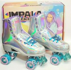 Impala Quad Roller Skates Vegan Holographic US Size 9 Brand New In Hand
