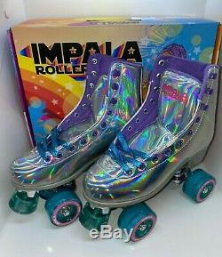 In Hand Ships Today Impala Quad Roller Skates Holographic Size 8 Brand New