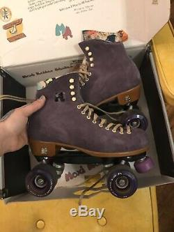 LIGHTLY USED Moxi Lolly Roller Skates Taffy Purple Size 9 WITH BOX