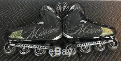 Mission BSX Inline Roller Blade Skates Adult Size 11.5 Made in California USA