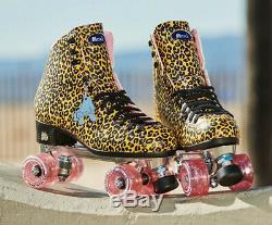 Moxi Beach Bunny Roller Skates Jungle Leopard/Pink Fits Size 6 NEW! IN HAND