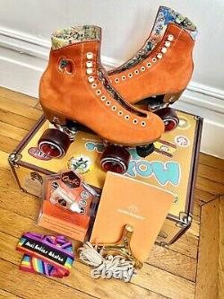 Moxi Lolly Clementine Roller Skates Size 6 (7-7.5 women) withEXTRAS