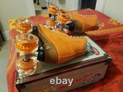 Moxi Lolly Clementine Roller Skates Size 8 (w9-9.5) Riedell READY TO SHIP NOW
