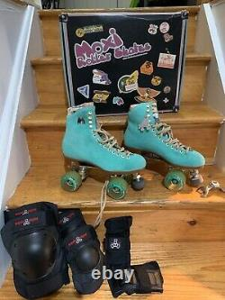 Moxi Lolly Floss Roller Skates Size 8 + Pads, Used Once