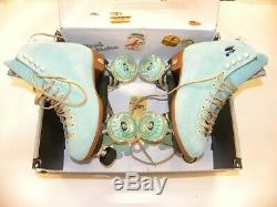 Moxi Lolly Roller Skates Floss Size 7 Outdoor Quad Skate Complete Suede NEW