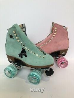 Moxi Lolly Roller Skates Floss & Strawberry Mismatch Size 6 (Womens 7-7.5)