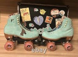 Moxi Lolly Roller Skates Floss (blue) Size 5! (fits womens 6 6.5)