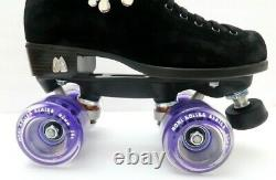 Moxi Lolly Roller Skates Outdoor Black With Purple Wheels Size 6 (w7-7.5)