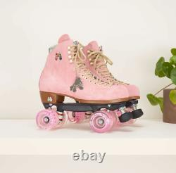 Moxi Lolly Roller Skates Strawberry Pink Brand New Size 7 (Fits Women 8-8.5)