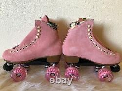 Moxi Lolly Roller Skates Strawberry Pink Size 7 (Womens 8-8.5) Brand New