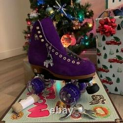 Moxi Lolly Roller Skates TAFFY Purple Size 7 Brand New with Skate Tool