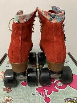 Moxi Roller Skates Lolly Complete Outdoor Poppy Red withBlack Wheels Sz 6 New