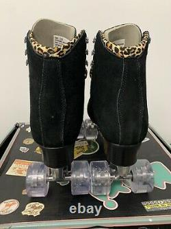Moxi Roller Skates Panther Jungle Black Suede Size 10 NEW Ready to Ship