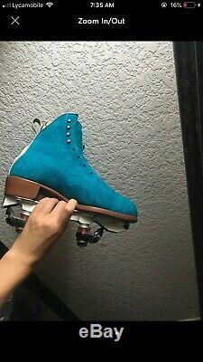 Moxie Pool Blue Jack Boots size 8 worn twiice great condition