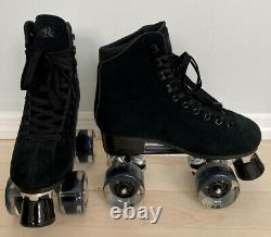 New Black Suede Quad Roller Skates Size 6 + 7 similar Moxi Lolly panther quads