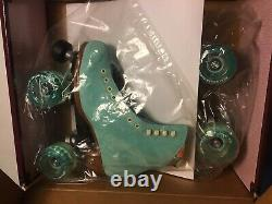 New Moxi LOLLY FLOSS BLUE 6 Roller Skates OUTDOOR WHEELS W 7.5/7 DISCONTINUED