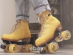 New Moxi Lolly Suede Roller Skates Honeydew Green Size 10-11-11.5 Discontinued