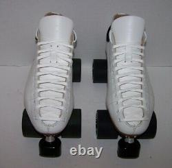 New Riedell 595 Labeda Pro-line Custom Leather Roller Skates Mens Size 8.5