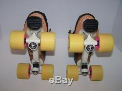 New Riedell 695 Custom Leather Roller Skates Mens Size 5 (ladies 6)