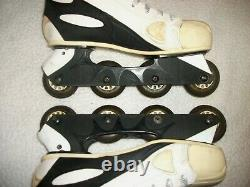 Nike Zoom Air Inline / Roller Hockey Skates Men's Size 12 Great Shape White Out
