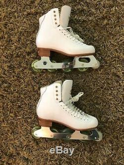 Pic Skates Complete Set Inline Women SIze 9.5 Ice Figure Skating Practice