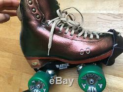 Riedell 2010 LS Roller Skates & Roll Line plate one-off Metallic £950 UK 6 US 8