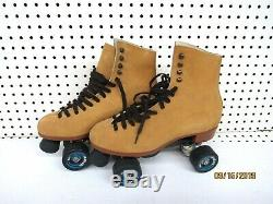Riedell Quad Roller Skates 135 Mens size 10 Tan (Great Condition)
