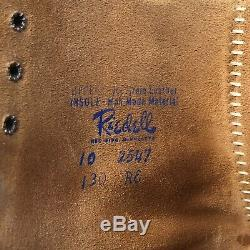 Riedell Red Wing 130 Roller Skates Suede Mens 10 Sure-Grip Jogger Plates Kryptos