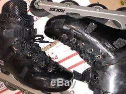 Roces Italian CDG Paris Inline Roller Speed Skates Blades SIZE 10 USED SEE PICS