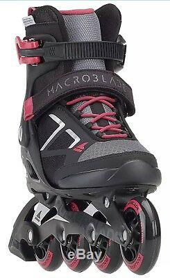 Rollerblade Macroblade 80 W Black/Pink Womens Inline Skates Size 5M New In Box