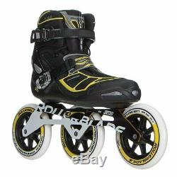 Rollerblade Tempest 125 3Wd Black Yellow Mens Inline Skates Size 8M
