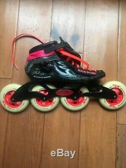 Simmons Roller Girl 03 pink And Black in-line speed skates