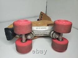 Sure-Grip Vintage Tan Brown Suede Leather Roller Skates Women Size 7 See Pics