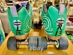 USED Labeda Speed Roller Skates Green (Men Size 13) & (Women 14) All Leather