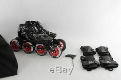 Vanilla 7000 Series The Assassin 4 Wheel Inline Roller Skates Size 7 with Acc