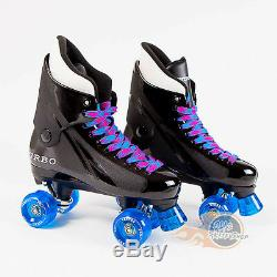 Ventro Pro Turbo Quad Roller Skates, Bauer Style Blue Pink