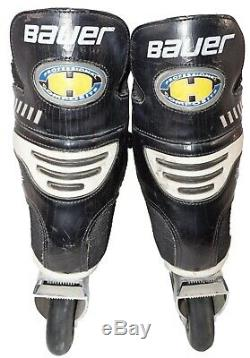 Vintage Bauer H5 Inline Roller Hockey Skates Size 8 Aluminum Chassis + 72mm